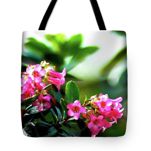 Tote Bag featuring the photograph Bee In Flight by Micah May