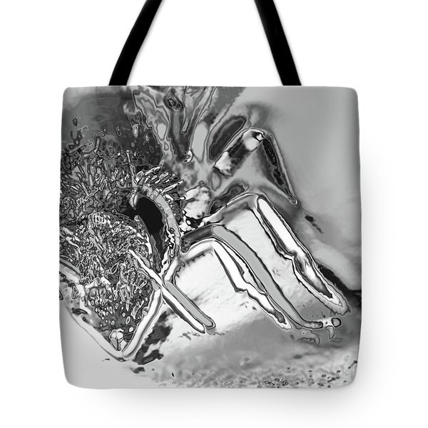 Tote Bag featuring the photograph Bee In Macro Chrome by Micah May