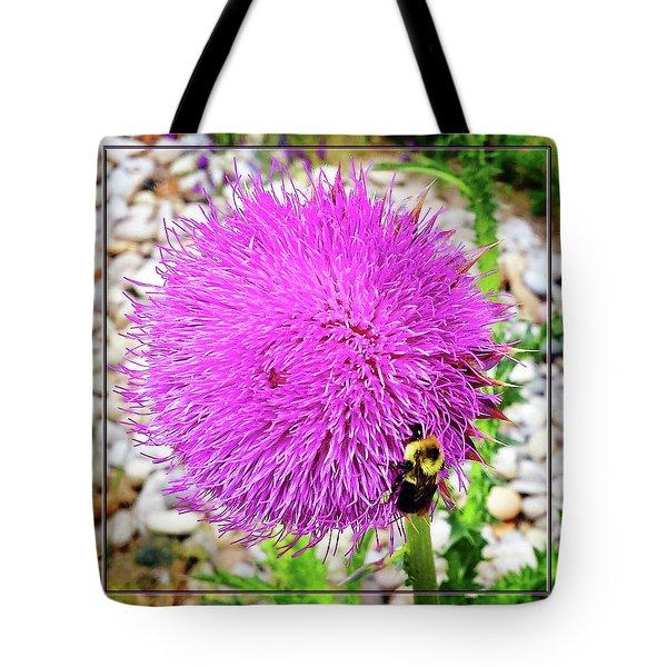 Bee Likes Purple Tote Bag