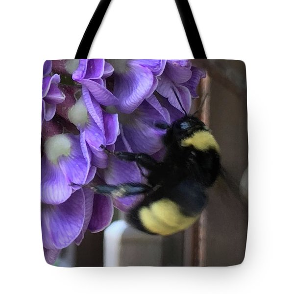 Bee On Native Wisteria I Tote Bag