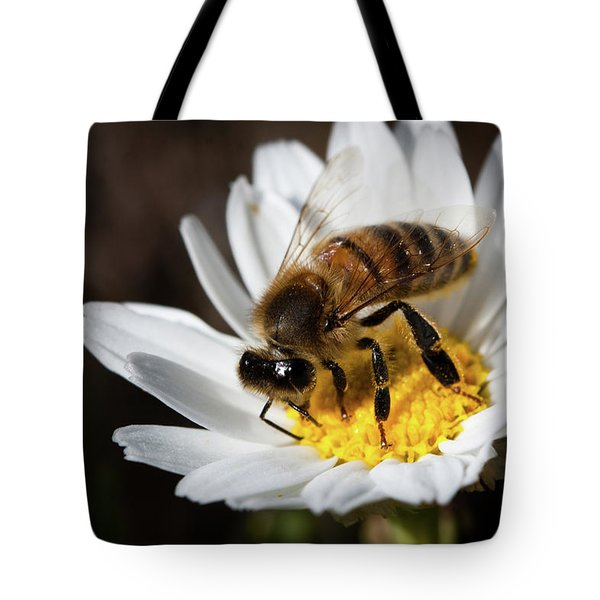 Bee On The Flower Tote Bag