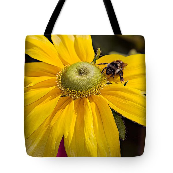 Bee On Yellow Cosmo Tote Bag