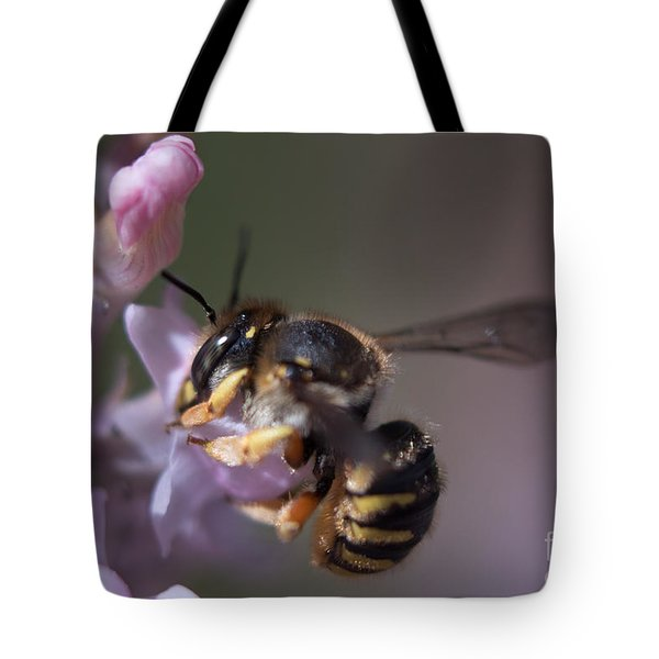 Bee Sipping Nectar Tote Bag