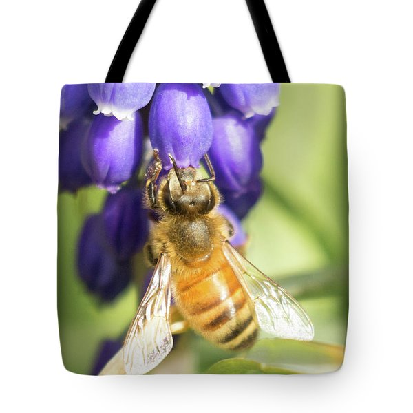 Tote Bag featuring the photograph Bee Struggles by Brian Hale