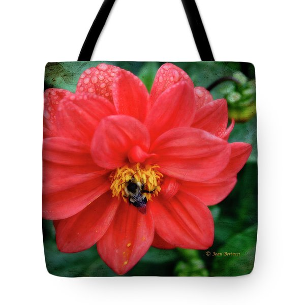 Tote Bag featuring the photograph Bee-utiful by Joan Bertucci