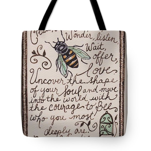 Bee You Tote Bag by Elizabeth Robinette Tyndall