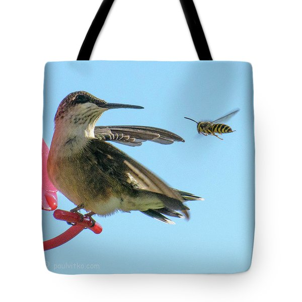Bee_bird Tote Bag