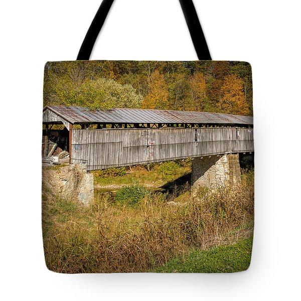 Beech Fork Or Mooresville Covered Bridge Tote Bag