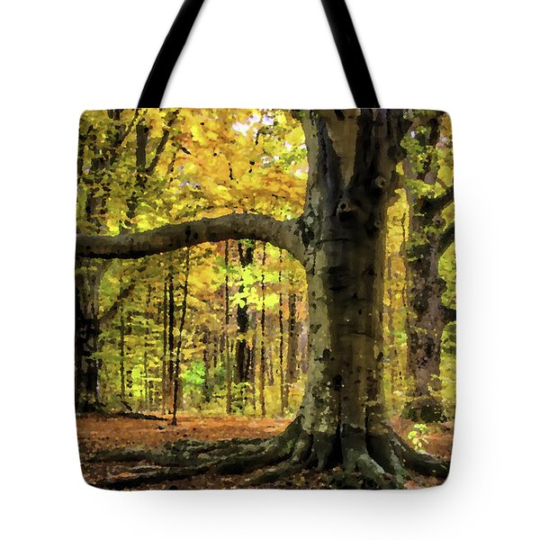 Beech Trees Abstract 01 Tote Bag