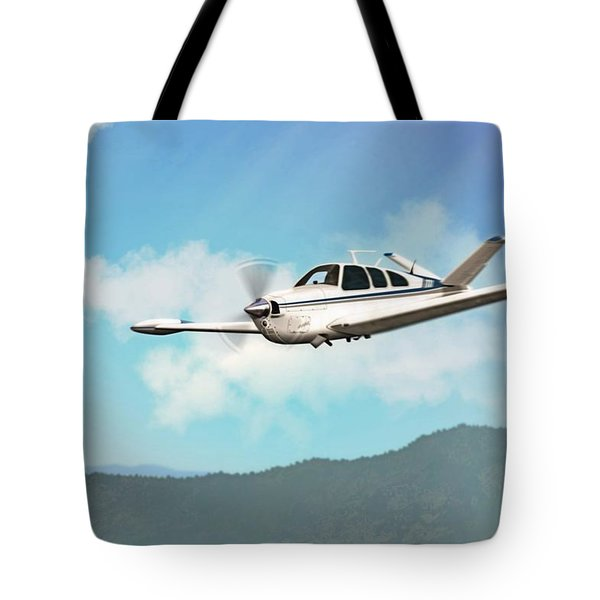 Beechcraft Bonanza V Tail Tote Bag