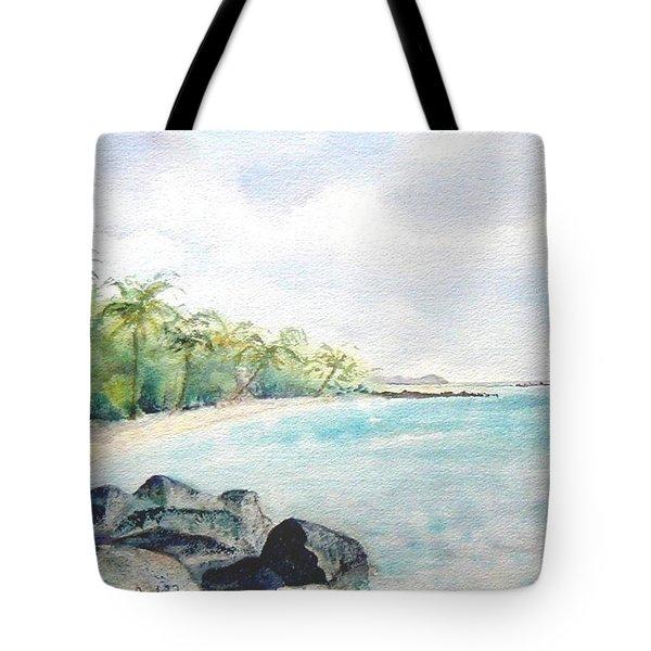 Beef Island Lagoon Tote Bag