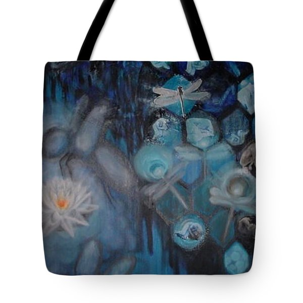 Tote Bag featuring the digital art Beehive Blues by Diana Riukas
