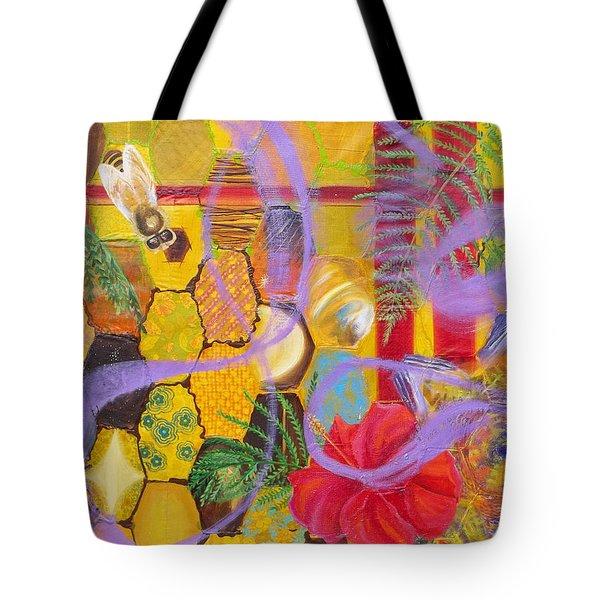 Beehive Oil Painting Tote Bag