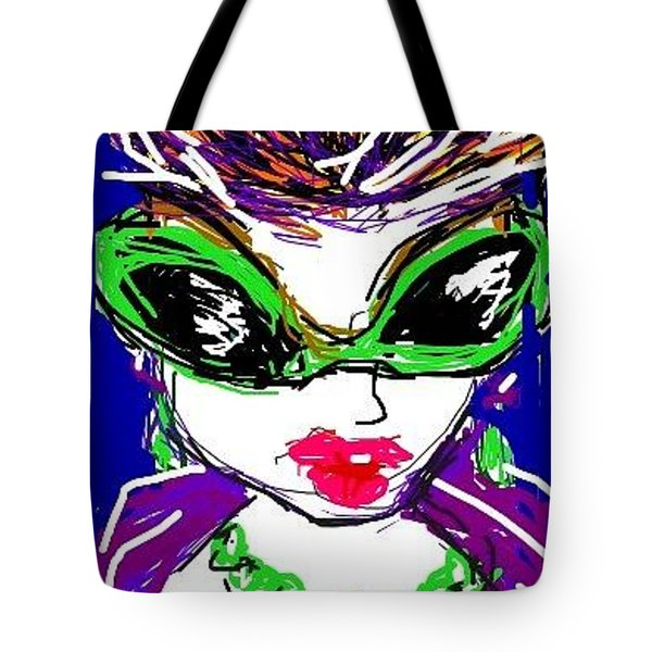 Tote Bag featuring the greeting card Been Around by Rae Chichilnitsky