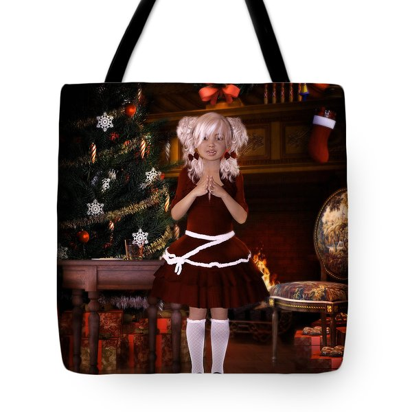 Tote Bag featuring the digital art Been Good Santa by Shanina Conway