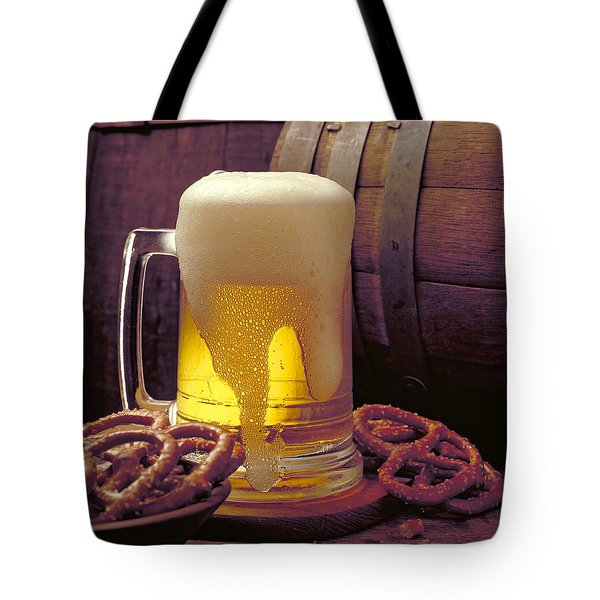 Beer And Pretzels Tote Bag by Thomas Firak
