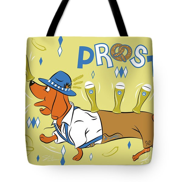 Beer Dachshund Dog Tote Bag
