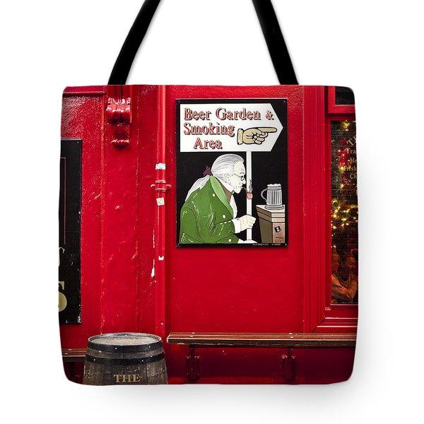 Beer Garden Smoking Area Tote Bag by Rae Tucker