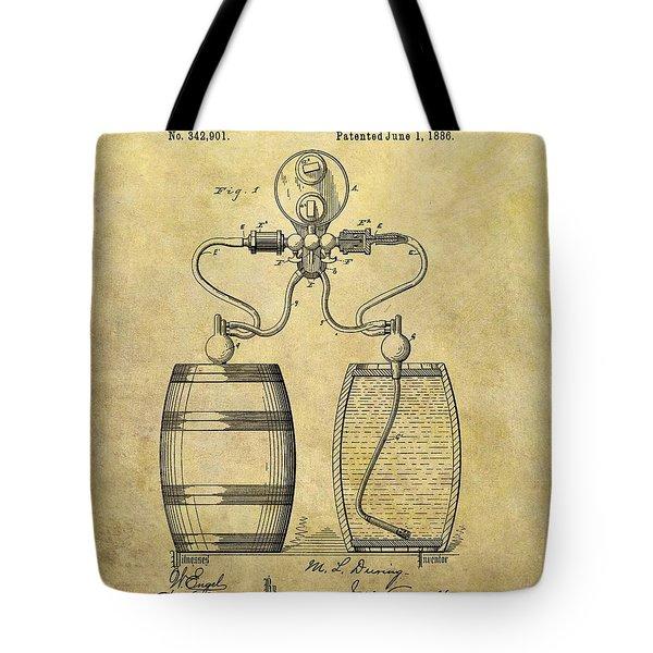 Beer Pump Patent Tote Bag