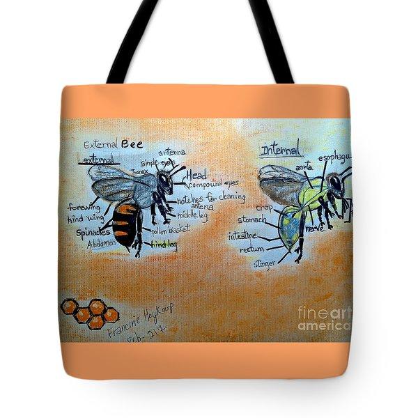 Bees  Tote Bag by Francine Heykoop