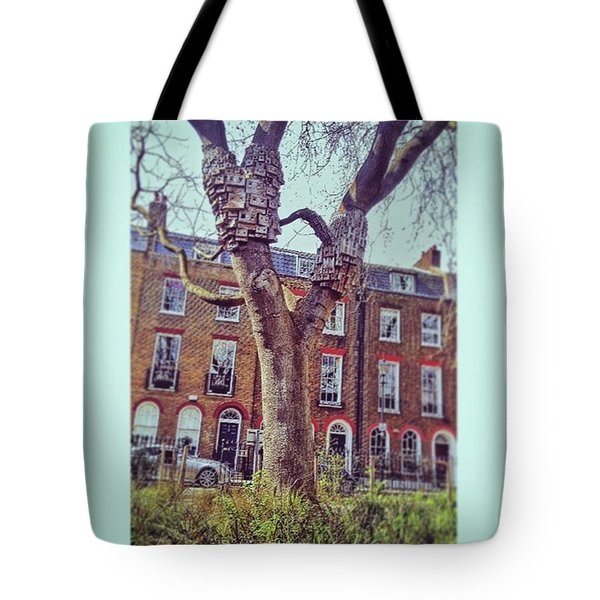 Bees Nest Bird Box.  #islington Tote Bag by Tai Lacroix