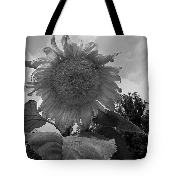 Tote Bag featuring the digital art Bees On A Sunflower by Chris Flees
