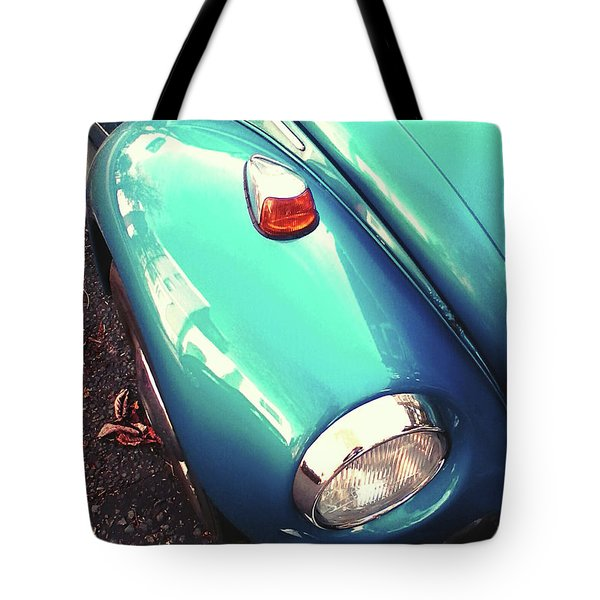 Tote Bag featuring the photograph Beetle Blue by Rebecca Harman