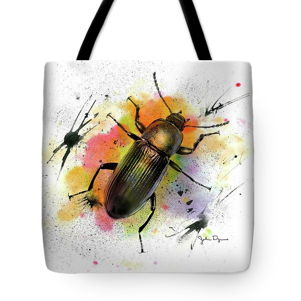 Beetle Illustration Tote Bag