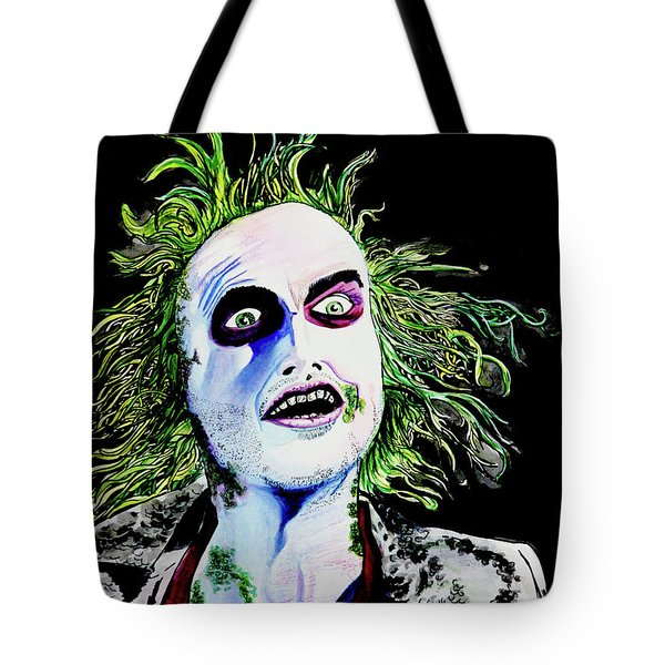 Tote Bag featuring the painting Beetlejuice by eVol i