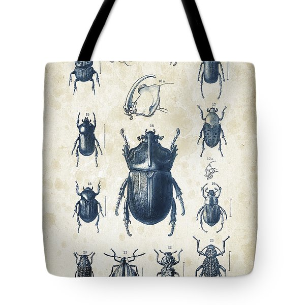 Beetles - 1897 - 02 Tote Bag by Aged Pixel