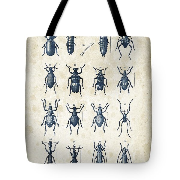 Beetles - 1897 - 03 Tote Bag by Aged Pixel