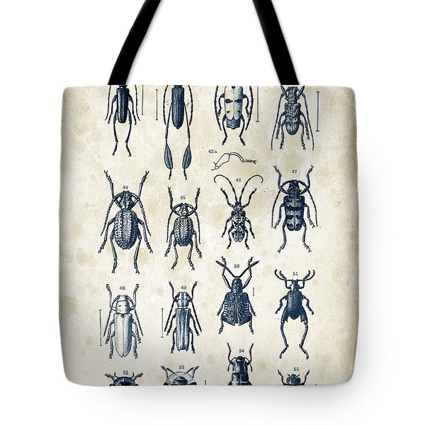 Beetles - 1897 - 04 Tote Bag by Aged Pixel