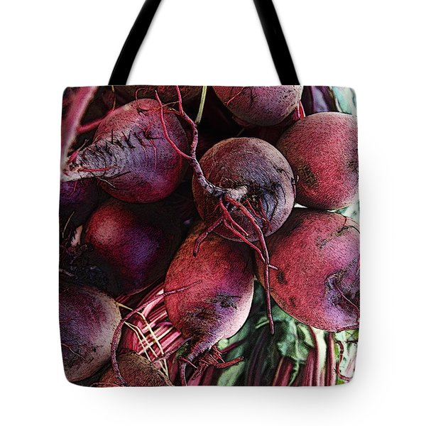 Tote Bag featuring the digital art Beets by David Blank