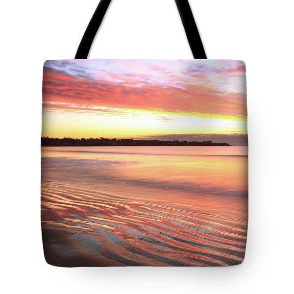 Before Sunrise At First Beach Tote Bag by Roupen  Baker