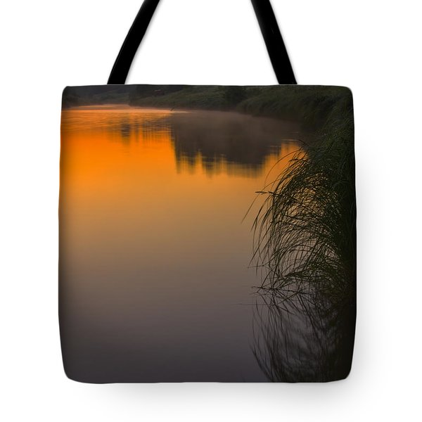 Before Sunrise On The River Tote Bag