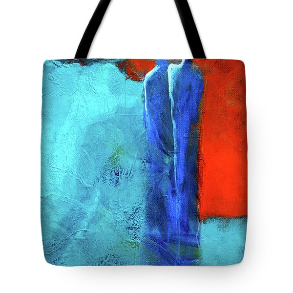 Tote Bag featuring the painting Before The Wedding by Nancy Merkle