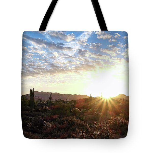 Tote Bag featuring the photograph Beginning A New Day by Monte Stevens