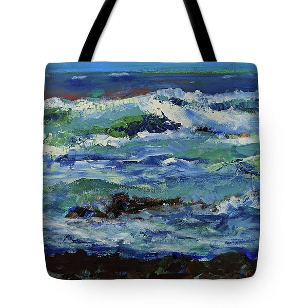 Tote Bag featuring the painting Beginning Of A Storm by Walter Fahmy