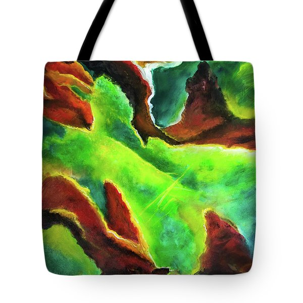 Beginnings 1 #410 Tote Bag by Donald k Hall