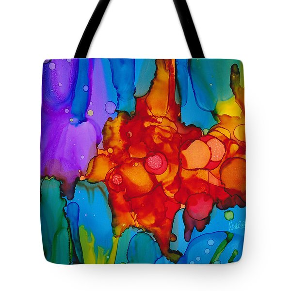 Tote Bag featuring the painting Beginnings Abstract by Nikki Marie Smith
