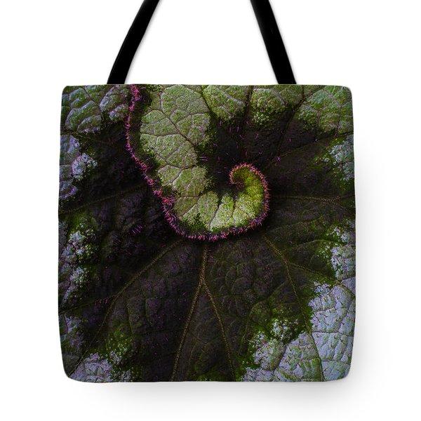 Begonia Leaf Close Up Tote Bag