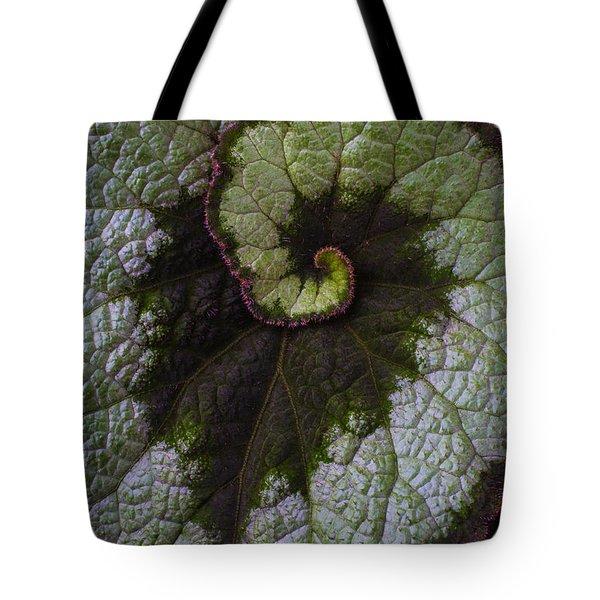 Begonia Leaf Heart Shaped Tote Bag
