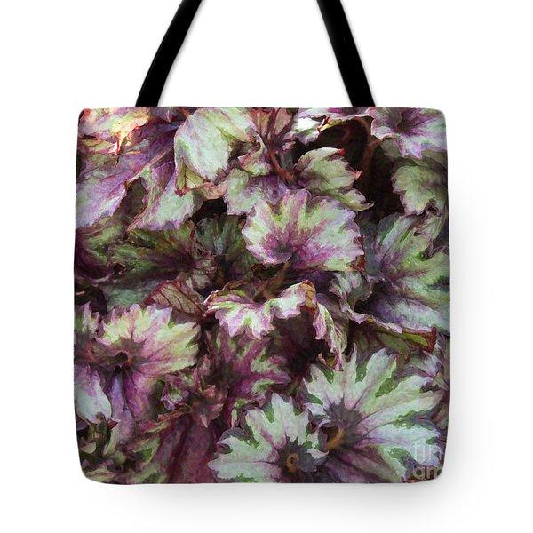 Begonia Raspberry Swirl Tote Bag
