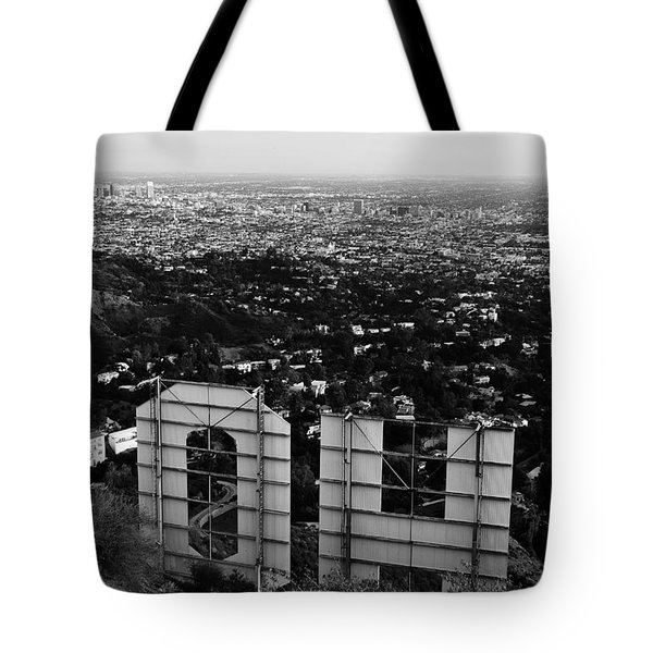 Behind Hollywood Bw Tote Bag