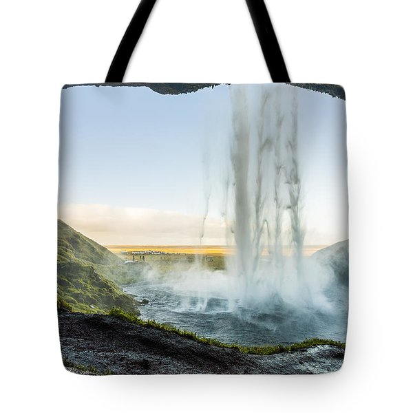 Tote Bag featuring the photograph Behind Seljalandsfoss by James Billings