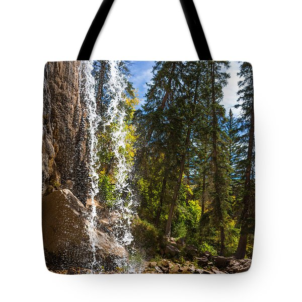 Behind Spouting Rock Waterfall - Hanging Lake - Glenwood Canyon Colorado Tote Bag