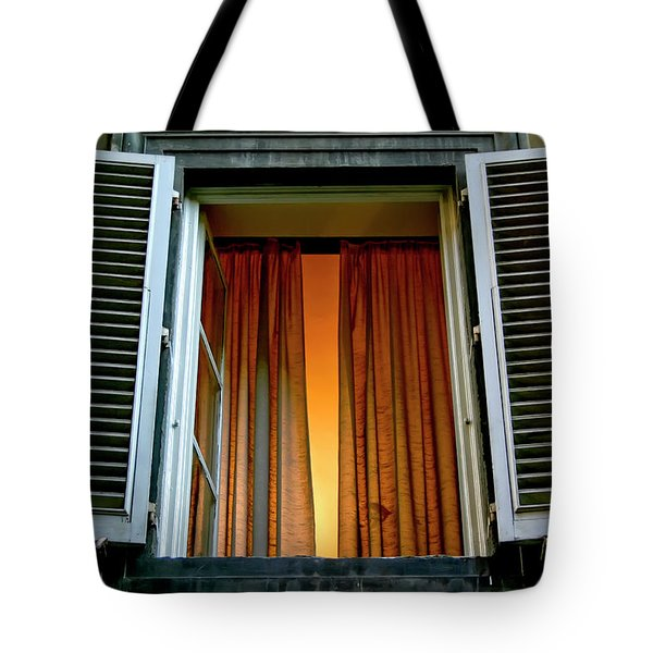 Tote Bag featuring the photograph Behind The Curtains by KG Thienemann