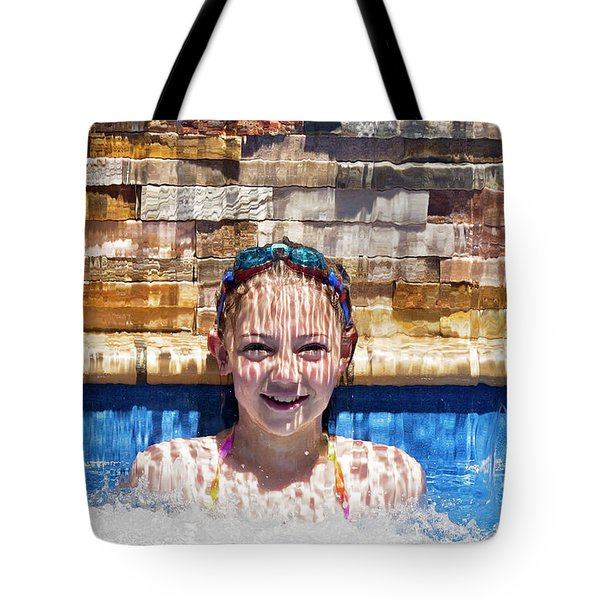 Tote Bag featuring the photograph Behind The Falls by Linda Lees
