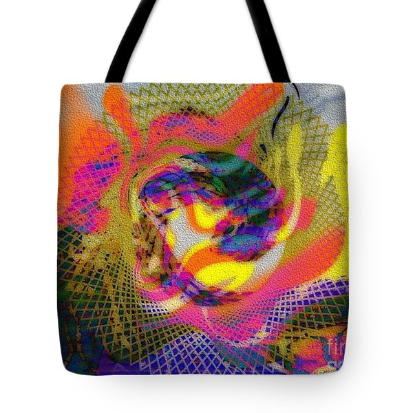 Behind The Fence Tote Bag by Kathie Chicoine