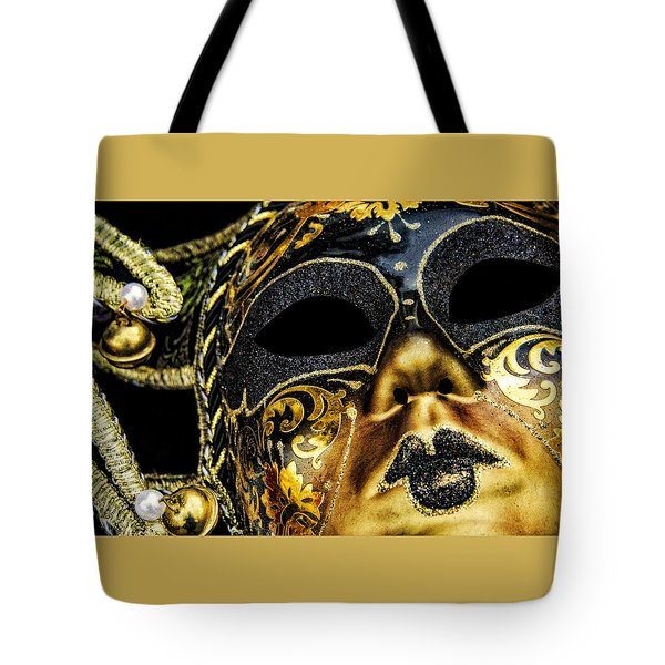Behind The Mask Tote Bag by Carolyn Marshall